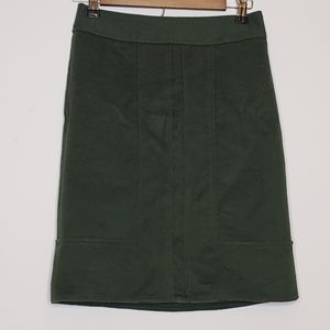 Green wool pencil skirt by Ann Taylor size 0